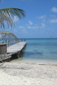 Welcome to Thatch Caye (photo by Aarika Kiley).